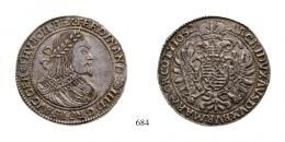 III. Ferdinánd (1637-1657) 2 Tallér /Doppeltaler/ (Ag) 1652 Körmöcbánya /Kremnitz/ abgebildet dieses Exemplar! RR! Patina! WMK: -, gutes vorzüglich