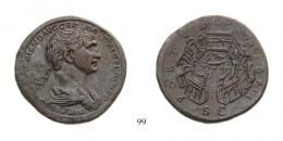Trajan (A.D. 98-117) Sestertius Ae A.D. 112-114 Rome mint, nice brown patina, only a few known, extremely rare good Very Fine