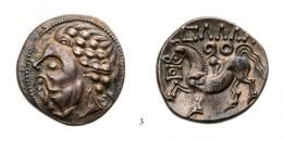 Celtic Tetradrachm Ag Zigzag type, 2nd century B.C., old cabinet tone, an unusually well strucked and centred specimen good Extremely Fine