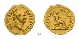 Titus as Caesar (A.D. 69-79) Aureus Au A.D. 73 Rome mint, nice large flan, underlying luster about Extremely Fin