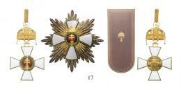 Magyar Érdemrend 1935-45 A Szent Koronával ékesített nagykereszt szett (a legmagasabb fokozat 1939-45 között)