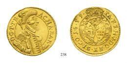 Barcsai Ákos (1659-1660) Goldgulden, Au, 1659, C-V, Klausenburg<br />RR!Prachtexemplar!gutes vorzüglich