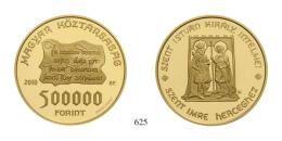 Magyar Köztársaság (1989-2012) 500000 Forint, Probeprägung, Au, 2010, B.P., Szőlőssy Enikő<br />62,83g6 Exemplare geprägt<br />PPstempelfrisch