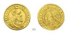 Bethlen Gábor (1613-1629) 2 Goldgulden, Au, 1628, N-B, Neustadt<br />vorzüglich- stempelfrisch