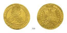 Leopold I. (1657-1705) 3 Dukaten, Au, 1703, N-B, Neustadt<br />Unediertes Unikum!fast vorzüglich-vorzüglich