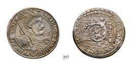 Bocskai István (1604-1606) Sechsgroschen, Ag, 1606, Wappen, Hermannstadt<br />Unikum!gestopftes Lochvorzüglich