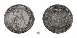 Kemény János (1660-1661) Taler, Ag, 1661, C-V, Klausenburg<br />RR!fast vorzüglich-vorzüglich