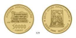 Magyar Köztársaság (1989-2012) 50000 Forint, Probeprägung, Au, 2010, B.P., Szőlőssy Enikő<br />6,98g6 Exemplare geprägt<br />PPstempelfrisch