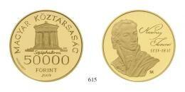 Magyar Köztársaság (1989-2012) 50000 Forint, Probeprägung, Au, 2009, B.P., Szőlőssy Enikő<br />10,00g6 Exemplare geprägt<br />PPstempelfrisch
