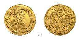Barcsai Ákos (1659-1660)Goldgulden, Au, 1659, Klausenburg<br />C-V<br />RR!<br />vorzüglich