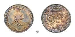 Bethlen Gábor (1613-1629)Taler, Ag, 1627, Neustadt<br />R!<br />Prachtexemplar!<br />vorzüglich-stempelfrisch
