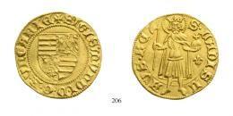 Zsigmond (1387-1437)Aranyforint / Goldgulden, Au, o.J. (1387-1401), Kassa /Kaschau<br />Lilie<br />RRR<br />Prachtexemplar!<br />vorzüglich-stempelfrisch