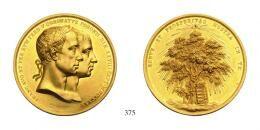 II. Ferenc (1792-1835)<br />Goldmedaille zu 10 Dukaten, Au, 1830, auf die Krönung des Kronprinzen Ferdinand am 28. September zum König von Ungarn in Pressburg<br />Joseph Daniel.Boehm<br />vorzüglich-stempelfrisch