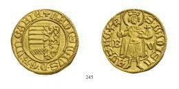 II. Lajos (1516-1526)<br />Aranyforint / Goldgulden, Au, 1526, Nagybánya / Neustadt/<br />N-D/G<br />RR<br />Prachtexemplar!<br />stemplfrisch