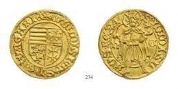I. Ulászló (1440-1444)<br>Aranyforint / Goldgulden, Au, o.J.(1440-44), Nagybánya / Neustadt/<br />RR<br />stempelfrisch