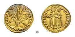 Nagy Lajos (1342-1382)<br>Aranyforint / Goldgulden, Au, o.J.(1342-53), Buda / Ofen/<br />o.Mmz.<br />seltene Umschriftvariation! MNM:-,<br />stempelfrisch