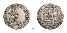 Bocskai István (1605-1606) <br> Tallér (Ag) 1606 verdejegy nélkül /ohne Mzz./ <br> 200 aranykorona! /Goldkronen/ RRR! Prachtexemplar!