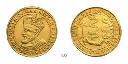 Bethlen Gábor (1613-1629)10 Dukát , Au , 1616, <br />200 aranykorona! /Goldkronen/ R!<br />apró ütés a mezôben /min. Schlag im Feld/ <br />fast vorzüglich