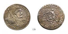 Bocskai István (1605-1606)<br />Hatgarasos /Sechsgroschen/ , Ag , 1606, <br />ezen darab ábrázolva! /abgebildet dieses Exemplar!/ Unikum! Prachtexemplar! <br />befoltozott lyuk /gestopftes Loch/ <br />vorzüglich