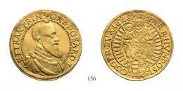 Bethlen Gábor (1613-1629)<br />Kétszeres aranyforint /2 Goldgulden/ , Au , 1628, <br /> <br />50 aranykorona! /Goldkronen/ RR!<br />vorzüglich