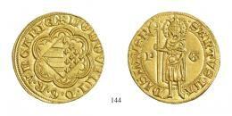 I. Lajos (1342–1382) Aranyforint /Goldgulden/<br />RRR! Prachtexemplar! stempelfrisch