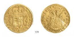 II. Rákóczi Ferenc (1703–1711) Aranyforint /Goldgulden/<br />vorzüglich-stempelfrisch