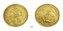 Szent Györgyi Érmek, Aranyérem 10 Dukát súlyban, Au, um 1730, Körmöcbánya<br>fast vorzüglich-vorzüglich