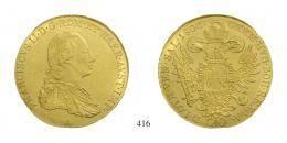 Ferenc (1792-1835), 4 Dukát, Au, 1806, Wien<br>fast stempelfrisch