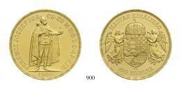 Ferenc József (1848-1916), 100 Korona, Au, 1908, Körmöcbánya<br>fast stempelfrisch