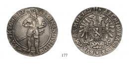 II. Ferdinánd (1619-1637), Duplatallér, Ag, 1627, Kutna Hora-Kuttenberg<br>fast vorzüglich-vorzüglich
