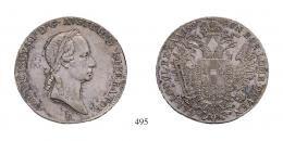 Ferenc (1792-1835), 1/2 Tallér, Ag, 1827, Körmöcbánya<br>fast vorzüglich-fast stempelfrisch
