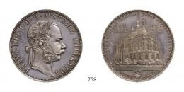 Ferenc József (1848-1916), 2 Forint, Ag, 1887, Kuttenberg<br>fast stempelfrisch aus polierter Platte