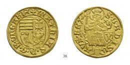 Johann Hunyadi (1446-1453) Aranyforint /Goldgulden/, (Au), 1446-47, Nagybánya /Neustadt/ <br /> R! Prachtexemplar!, stempelfrisch