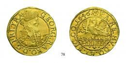 Stephan Bocskai (1605–1606) Aranyforint /Goldgulden/, (Au), 1605, Nagybánya, verdejegy nélkül /Neustadt, ohne Mzz./ <br />kis kiveretlenség /kl. Prägeschwäche/, 70 aranykorona! /Goldkronen/ R!, fast stempelfrisch